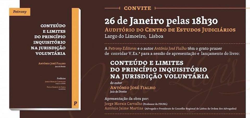 Convite Conteúdo e Limites do Princípio Inquisitório na Jurisdição Voluntária